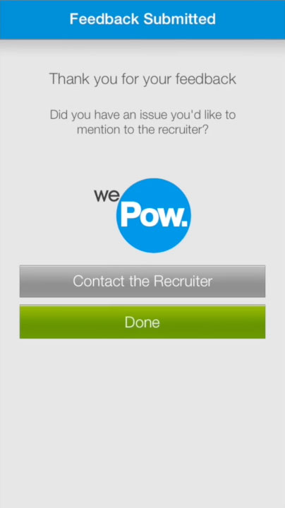 Message the recruiter
