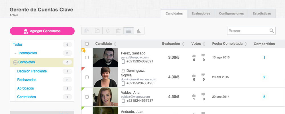 Candidate's filters 2