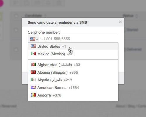 How to invite candidates wepow help center sms reminder code stopboris Choice Image