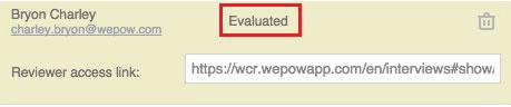 Evaluator status